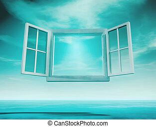 ouvert, fenêtre