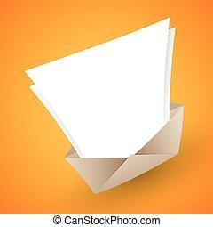 ouvert, lettre, copyspace