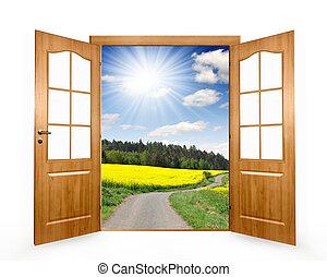 ouvert, porte