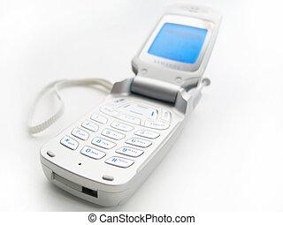 ouvert, téléphone portable