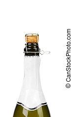 ouverture, a, bouteille, de, champange.