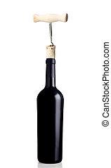 ouverture, bouteille vin