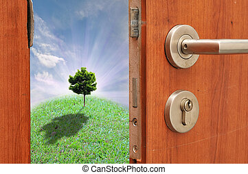 ouverture porte