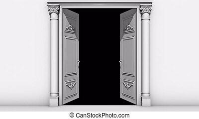 ouverture, transition, alpha, porte, canal
