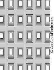 ouvertures, mur, windows.