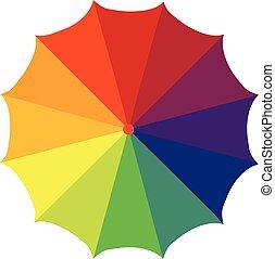ouvrez parapluie, parapluie, fermé, coloré