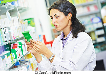 ouvrier, chimiste, pharmacutical