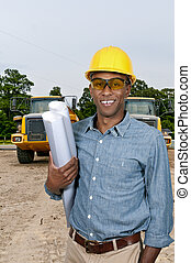 ouvrier construction, à, modèles