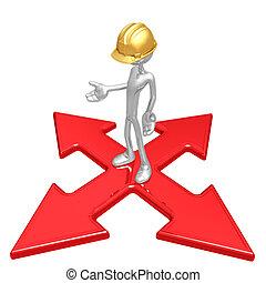 ouvrier construction, carrefour
