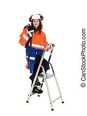 ouvrier construction, femme