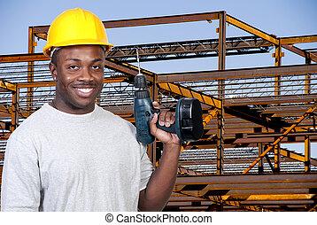 ouvrier construction, foret
