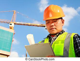 ouvrier construction, grue