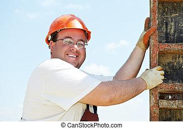 ouvrier, construction
