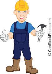 ouvrier, construction, réparateur