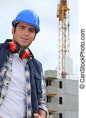 ouvrier construction, site