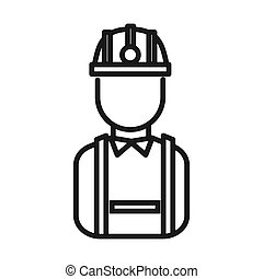 ouvrier, industrie, conception, illustration