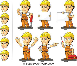 ouvrier industriel, construction, masc