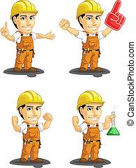 ouvrier, industriel, cust, construction