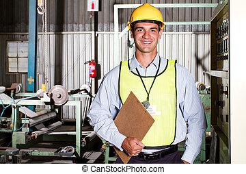 ouvrier industriel, dans, usine