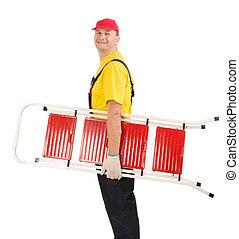 ouvrier, ladder.