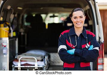 ouvrier médical, service cas urgent