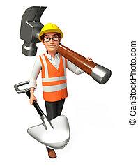 ouvrier, marteau