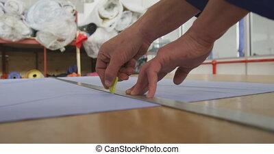 ouvrier, règle, mesurer
