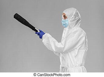 ouvrier, rondelle, hazmat, système sanitaire, pression