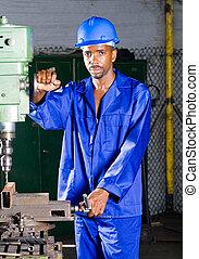 ouvrier, usine, africaine