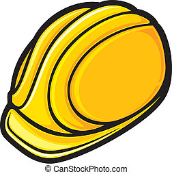 ouvriers, chapeau construction, dur