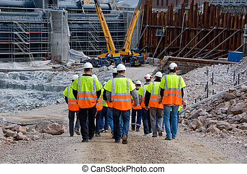 ouvriers construction