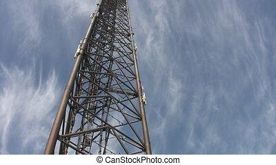 ouvriers, descendre, géant, tower.