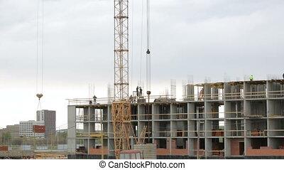ouvriers, fonctionnement, site construction