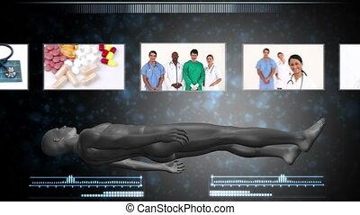 ouvriers, monde médical, montage, rev