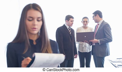 ouvriers, réunion, business