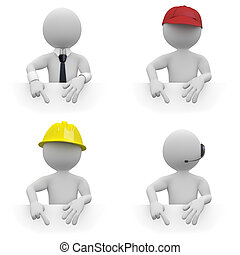 ouvriers, remplir, secteur, texte