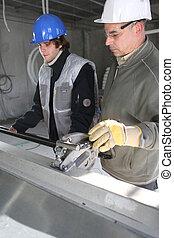 ouvriers, site construction