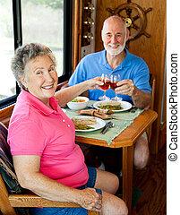 ouwetjes, rv, -, romantische maaltijd