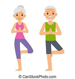 ouwetjes, yoga