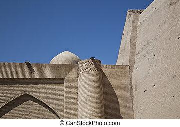 ouzbékistan, murs ville, il