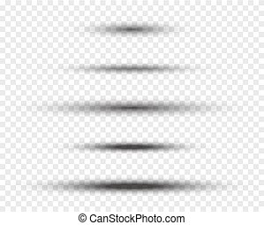 ovális, shadows, vektor