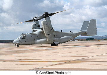 OV-22 Osprey - Military V-22 Osprey taxiing for take off