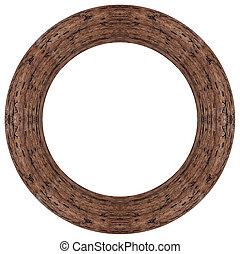 ovaal, hout, fotolijst