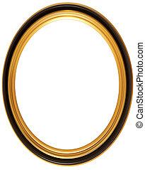 oval, antigüedad, marco, imagen
