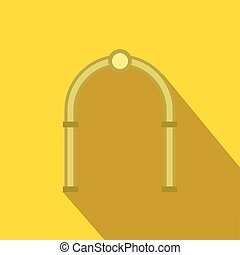 Oval arch icon, flat style - Oval arch icon in flat style...