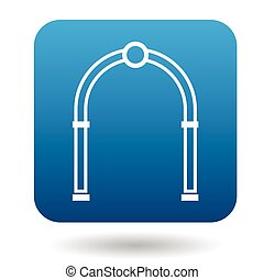Oval arch icon, simple style