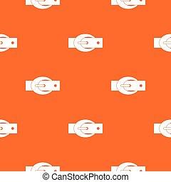 Oval belt buckle pattern seamless