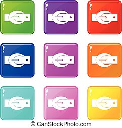 Oval belt buckle set 9