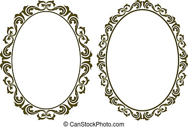 oval border - oval decorative border