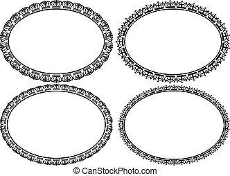 oval borders with crowns
